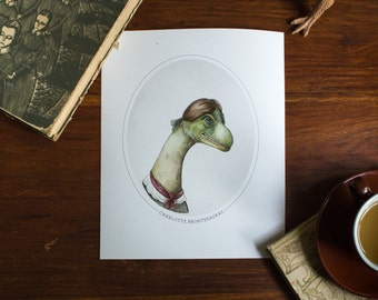 Charlotte Brontesaurus - Print