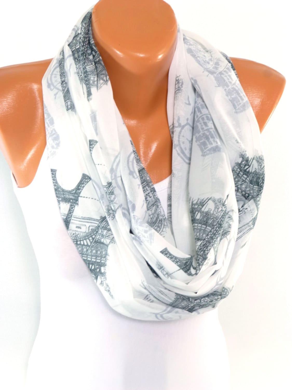 scarf shawl scarves infinity chiffon scarf eiffel tower