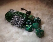 Slytherin Chainmail Dice Bag