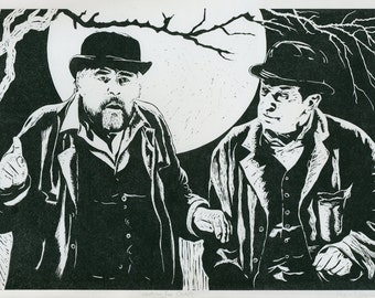 Waiting for Godot - Ltd Edition Linocut