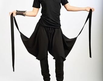 Black Pants /Drop Crotch Pants /Black Loose Pants / Woman Extravagant Pants/ Black Pants/ Black Extravagant Trousers by FRKT P0020