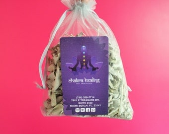 White Sage Smudge Bundle w/ Loose Incense Leaves Perfect for Cleansing Negative Energy