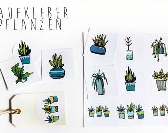 "Sticker ""Room Botany"", 24 pieces"