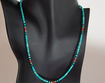 Turquoise Shell Onyx Necklace