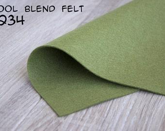 Wool Blend Felt Olive