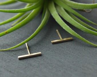 Gold Bar Earrings, Tiny Bar Earrings, Bar Earrings, Bar Studs, Tiny Bar Studs, Gold Filled Bar Studs,