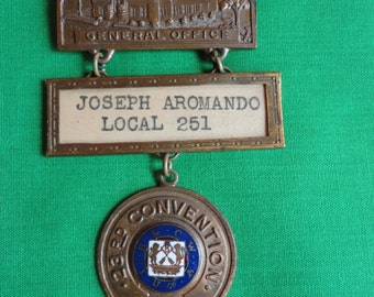 Bakery and Confectionary Workers Union Medal