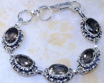 "Smoky Quartz Bracelet Size 7 1/4 - 8"""