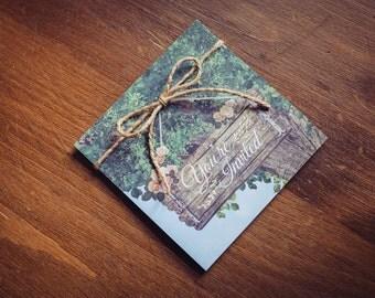Summer Tree Woodland Invitation | Forest Country Wedding Invitation | Woodland Animals Invitation | Rustic Wedding Invitation