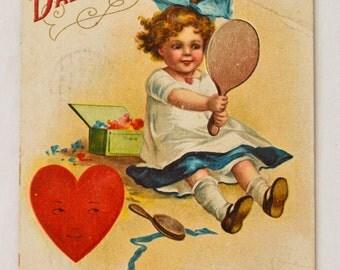 Antique Valentine's Postcard 1911 With Stamp