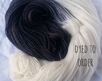 Yin Yang - Hand-Dyed / Hand-Painted Yarn - Superwash Merino Wool - Dyed To Order