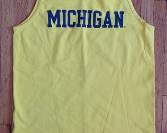 Ladies University of Michigan Wolverines Vintage Tank Top by AlStyle