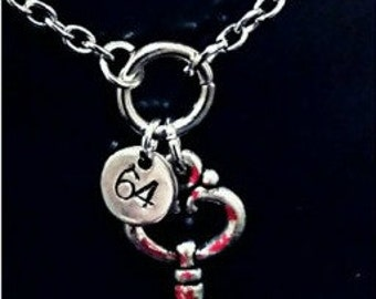 AHS Hotel inspired key necklace -  - Room 64