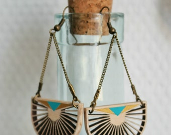 "Earrings wooden ""Pamukkale"""