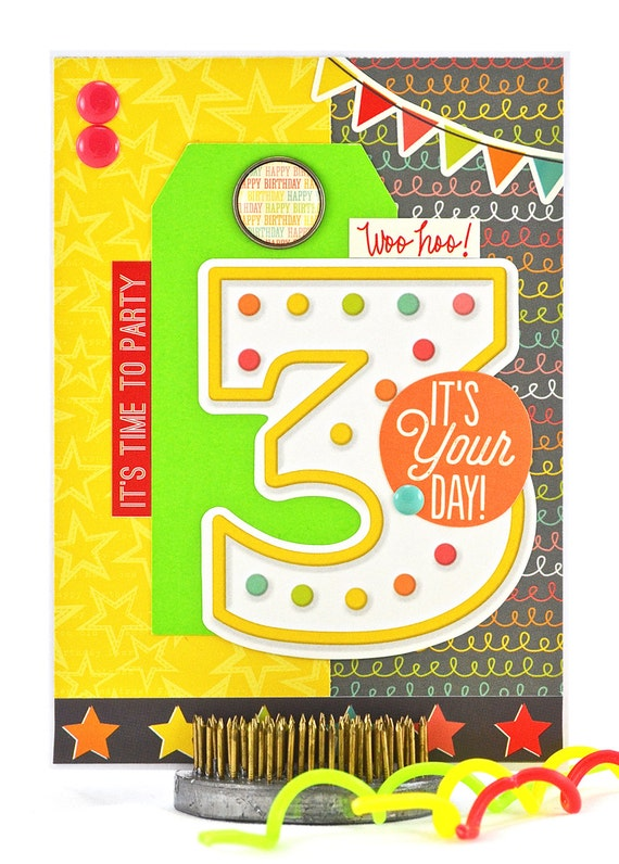 Little Boys Birthday Card Third Birthday Card Happy 3rd – Birthday Card for Child