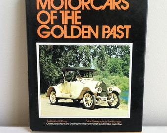 MOTORCARS Of The GOLDEN PAST  by Ken W. Purdy| Hardcover | Coffee Table Book | Dust Jacket | Illustrated | Full Color