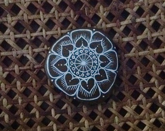 Hearts and Flowers Mandala (SOLD)
