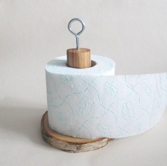 Items similar to log toilet paper holder wood roll holder rustic wooden toilet paper stand - Rustic toilet roll holder ...