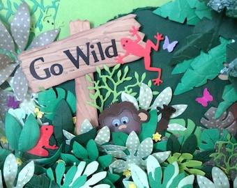 Jungle Scene, Childrens 3D Picture Frame
