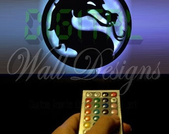 Remote Controlled Mortal Kombat logo night light Wall Art night light