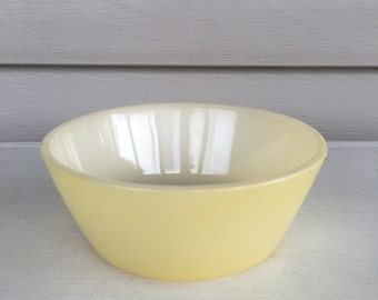 Vintage Pale Yellow - Federal Glass Bowl