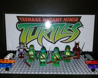 Teenage Mutant Ninja Turtles Set Of 6 Minifigures TMNT Leonardo Raphael Michelangelo Donatello Shredder Splinter (LEGO Compatible)