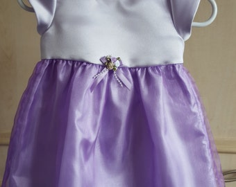 Bridesmaid Dress, Flower Girl Dress, Baby Special Occasion Dress, Birthday Party Dress, Lilac/purple Dress. 3-6 months By JQDdresses