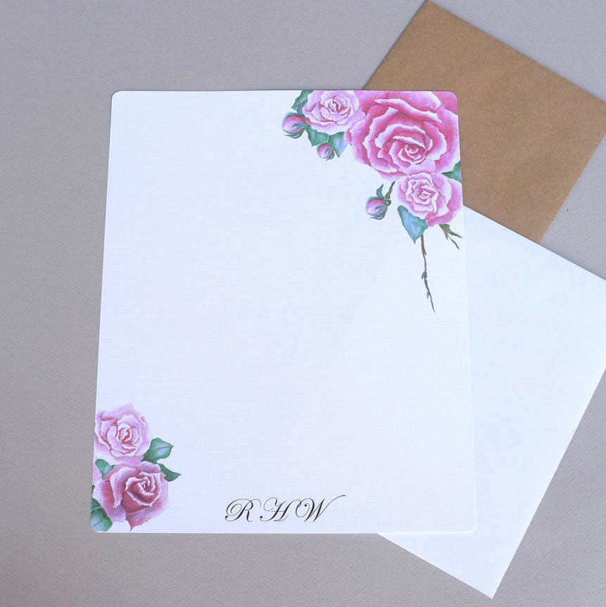 monogrammed writing paper