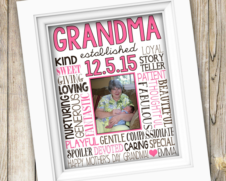 Birthday gift for grandma first time grandma gift from for What to give grandma for her birthday