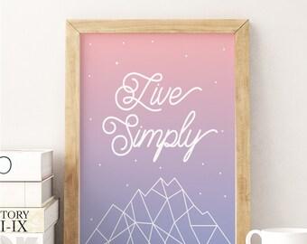 Pantone poster etsy for Art minimaliste citation