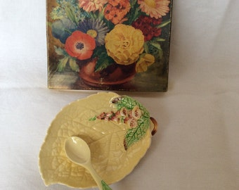 Vintage Carltonware preserve dish and spoon, original box