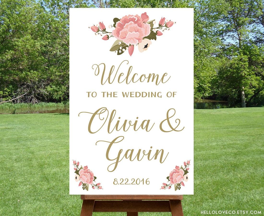 PRINTABLE Large Wedding Welcome Sign Personalized Wedding