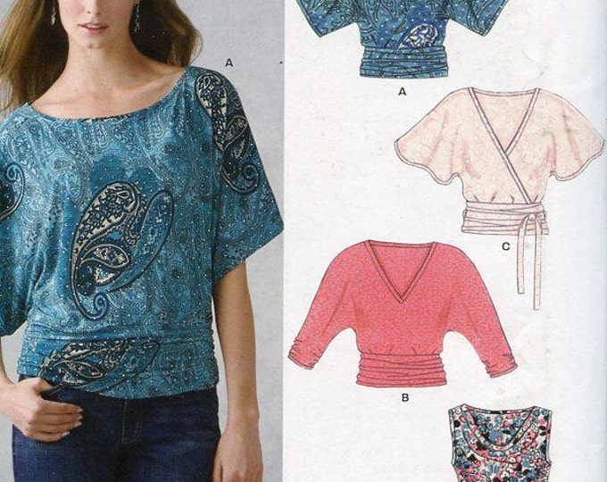 FREE US SHIP New Look 6648 Easy Fun Tops Size 6/16 Dolman Sleeve Out of Print Sewing Pattern Bust  30 32 34 36 38  Plus Size