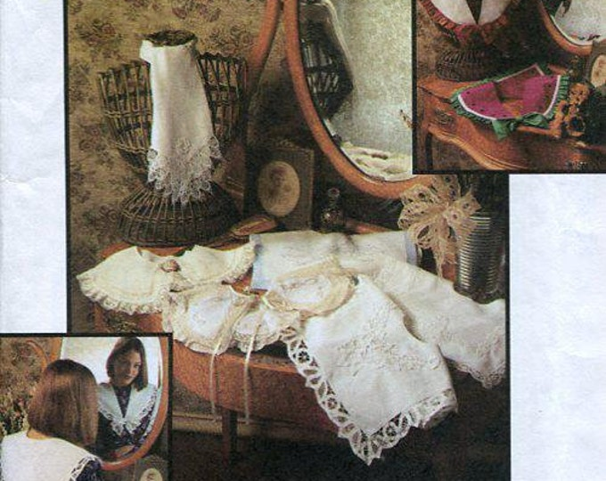 FREE US SHIP Simplicity 8465 Crafts Transfers Embroidery Set of detachable Collars Pilgrim Victorian Watermelon 1993 Sewing Pattern Uncut