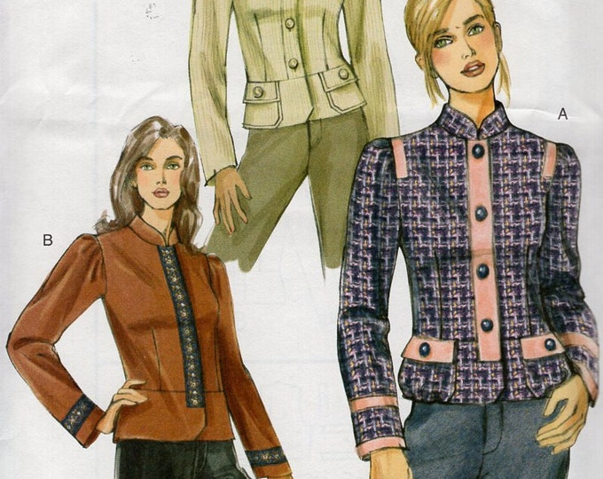 Free Us Ship Sewing Pattern Vogue 8121 Lined Jaacket Darts 3 designs 2005 Out of Print Size 6 8 10 12 14 16 Bust 30.5 31.5 32.5 34 36 38