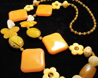 Super fabulous orange & lemon necklace
