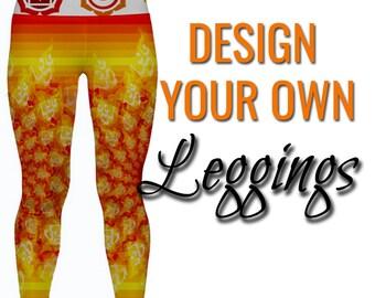 Custom Printed Leggings by Legs247.com - Made to Order