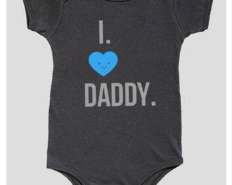 Onesie, Baby Boy Onesies, Boy Bodysuit, I love Daddy, Baby baby boy Onesie, Baby Boy bodysuit, Baby Boy onesie, Baby Boy