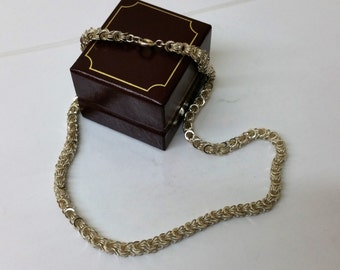 Old necklace silver 835 chain 50s/60s HK183