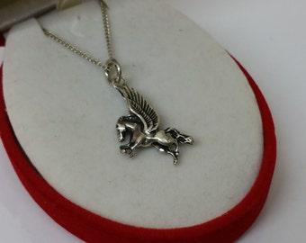 Pendant silver Pegasus horse 825 silver SK926