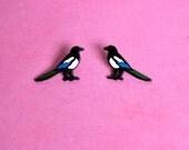 Magpie Enamel Pin Set [50% OFF PIN SECONDS] / Enamel Pin / Hard Enamel Pin Badge / Lapel Pin / Tie Pin / Brooch / Pinback