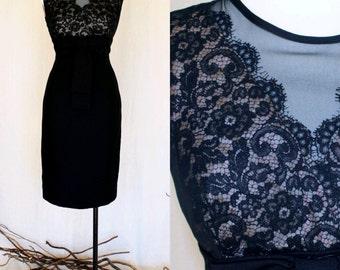SALE Vintage 1960's Little Black Dress // Wiggle