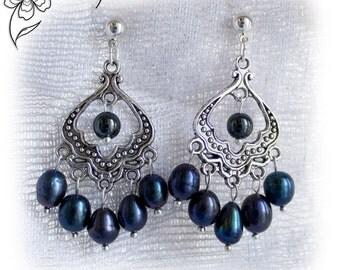 Chandelier earrings ethnic ottoman statement jewelry turkish Hurrem persian jewelry pearl gypsy jaipur bohemian jewelry vintage earrings