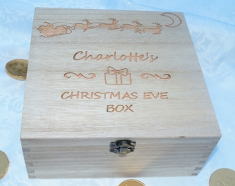 Christmas Eve box, Memory box - selection of sizes available, personalised wooden box, personalised christmas eve, engraved box, christmas