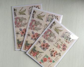 Flower Stamp Inspired Sticker Set