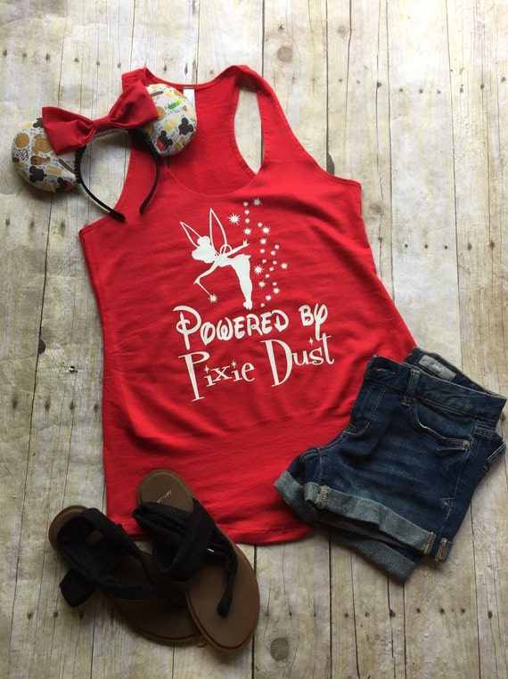 Disney Shirt Powered By Pixie Dust By Littlebutfierceco