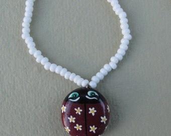 Daisy Ladybug Necklace
