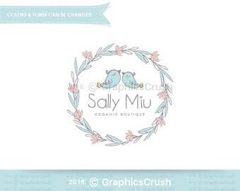 Baby Logo Design Cute Birds Logo Design Baby Clothing Logo Clothing Boutique Logo Design