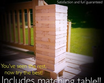 2x4 Size Giant Jenga Inspired-Tumble Block Stacking/Tower Outdoor Yard Lawn Game.Tailgate/Wedding/Party/Fun/Sport/Backyard Summer East Ship