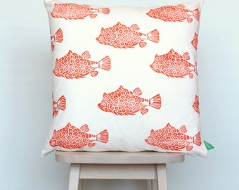 SALE | Cushion cover with fish